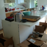 As soon as this kitchen renovation was finished, we arrived