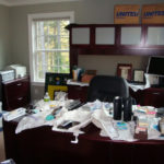 This executive didn't have time to set up his home office when he moved